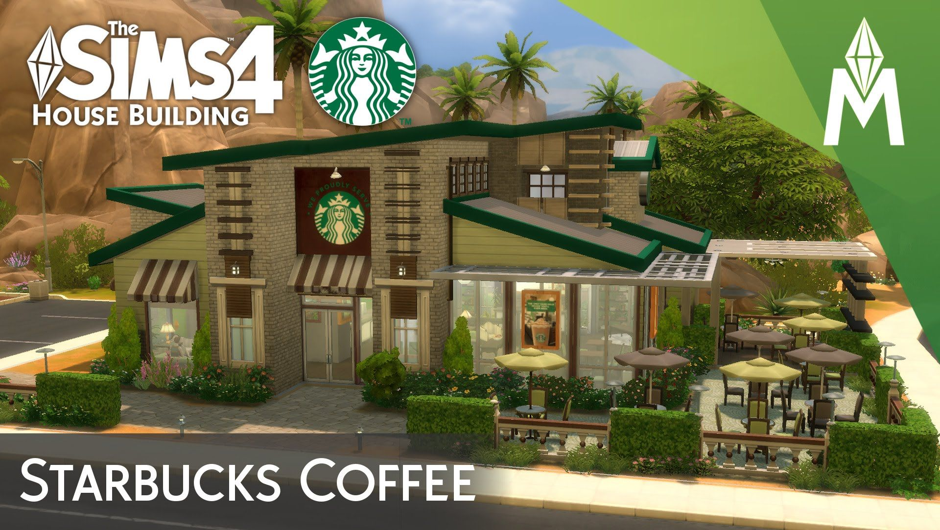 the sims 4 house building starbucks coffee reference for build