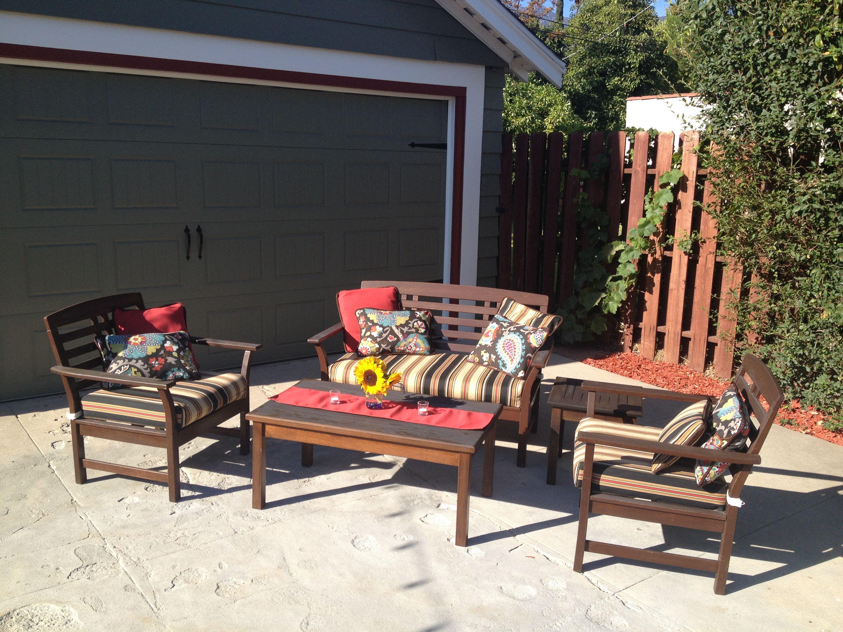 Diy outdoor cushions pillows table runner outdoor