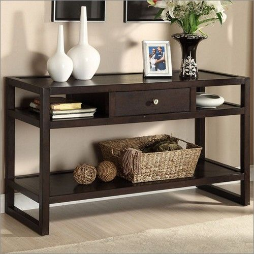 Espresso Entry Tables Furniture Living Room Sofa Table Finish