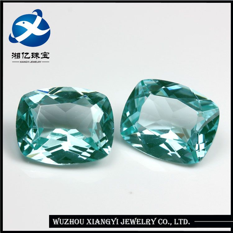 Xiangyi Factory Prices Hot Shape Lab Created Cushion Green Spinel ...