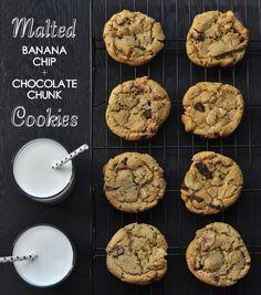 Malted Banana Chip and Chocolate Chunk Cookies