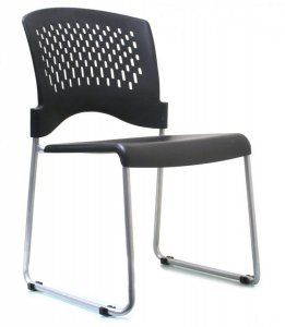 Monaco Sled Base Stacking Chair (4 pk) SKU: V5000S Molded contoured black plastic seat, Contoured black plastic perforated back, Convenient ganging device glides, Silver powder coated frame finish, Non-marring floor glides, Available 4-wheel storage dolly (Model 8050) Notes: Packed four (4) per carton, sold in sets of four Product price above is per chair. Availability: 1 Color(s) Available Pricing: $267.99