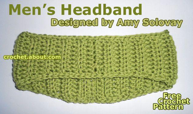 Men\'s Fall or Winter Headband - Free Crochet Pattern   Häkelmuster