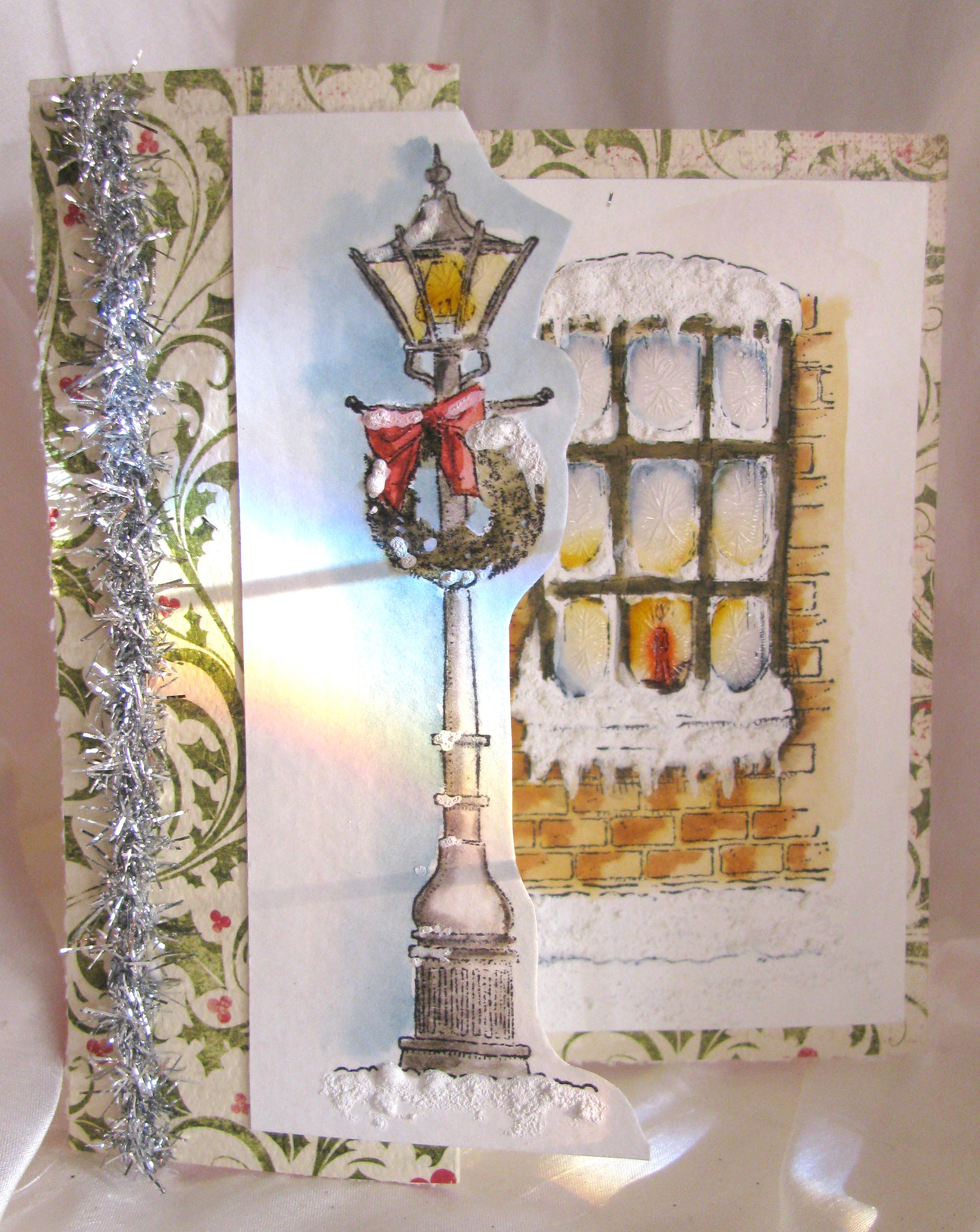 Penny Black l&post and window st& set...I loved doing it in watercolor & Penny Black lamppost and window stamp set...I loved doing it in ...