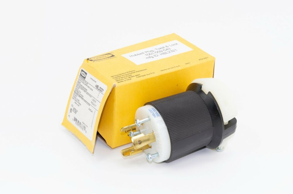 Hubbell cord plug 20a Twist Lock 250v