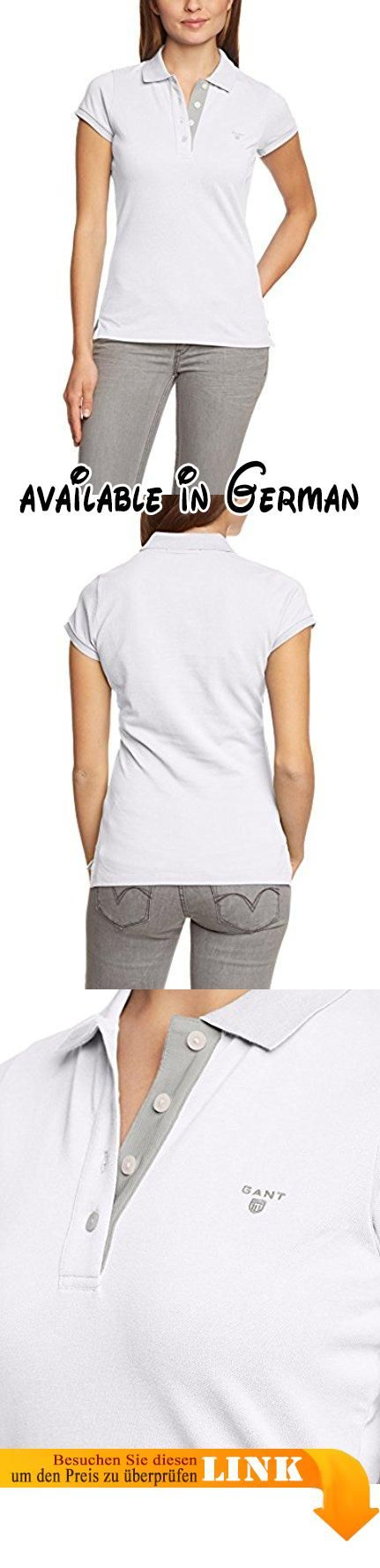GANT Damen Poloshirt FITTED CONTRAST PIQUE, Einfarbig, Gr. 44 ...