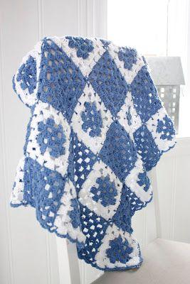 Crochet granny squares boy blanket