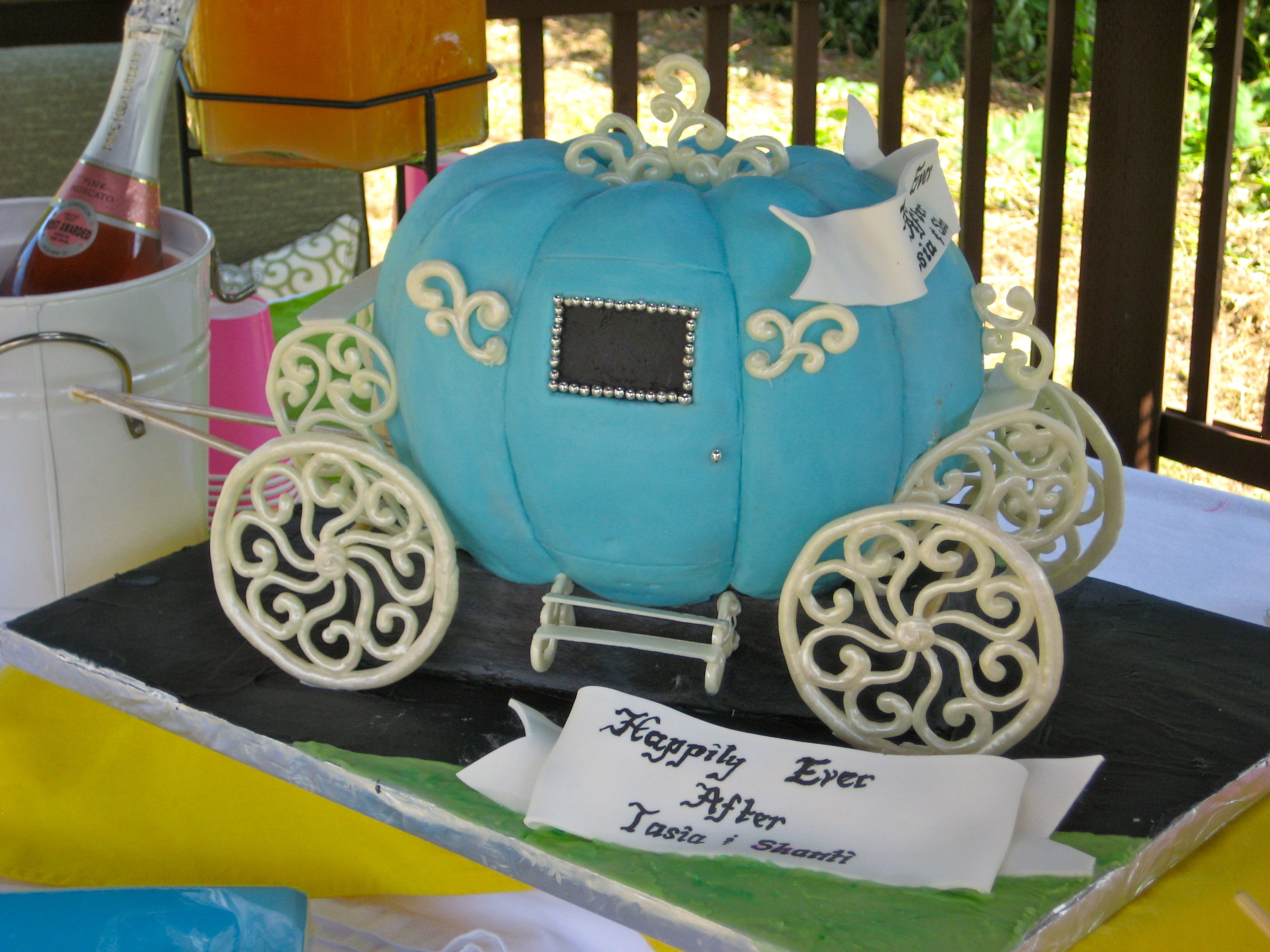 Cinderella pumpkin coach cake made by Let Them Eat Cake in