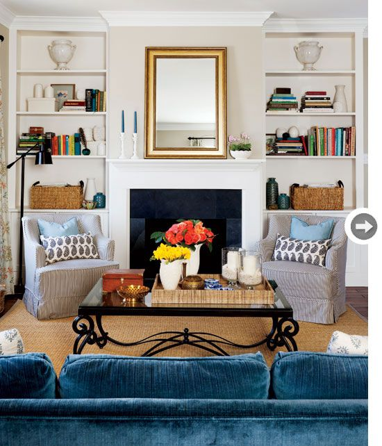 Country Blue Living Room: Interior: Country Casual Farmhouse Renovation