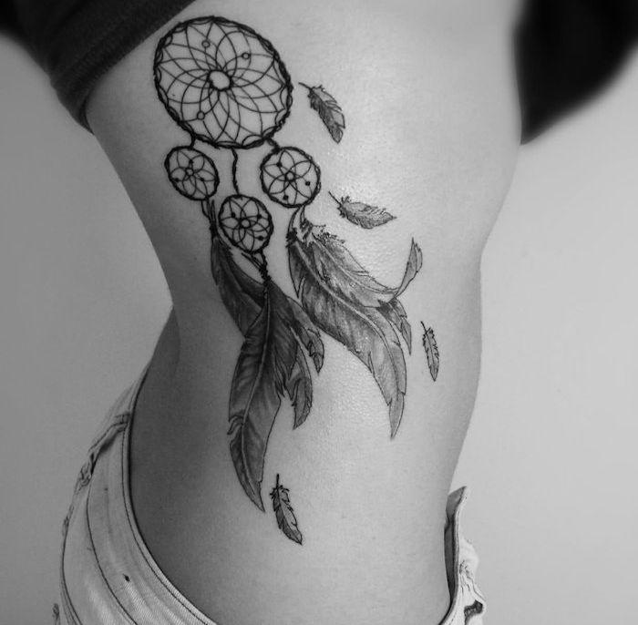 1001 + significations et designs du tatouage plume impressionnant | Tatouage plume ...