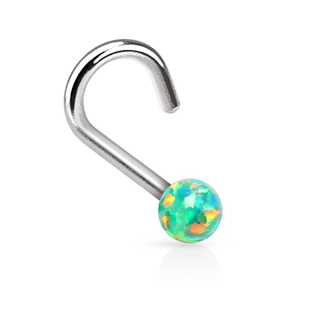 Nose piercing stud jewelry  Green Fire Opal Nose Ring Nose Jewelry ga