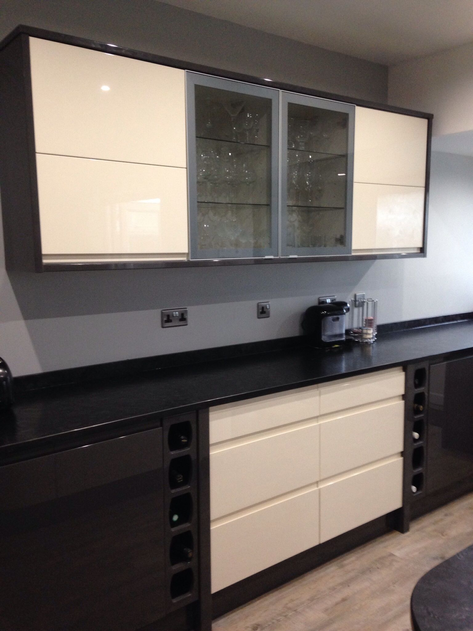 Wickes Sofia cream and graphite mix. | Personal kitchen designs ...