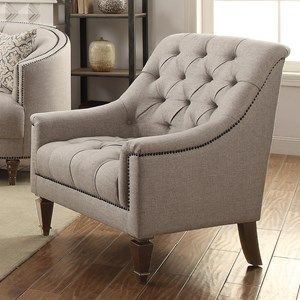 Avonlea+Upholstered+Chair+with+Heavy+Tufting