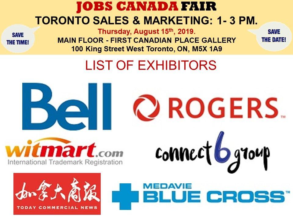 List of Hiring Companies for TorontoSales