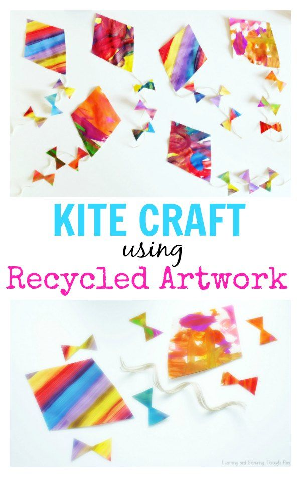 Learning And Exploring Through Play Kite Craft For Kids Recycled Artwork Spring Crafts Toddlers Preschoolers What Can I Do With My Childs