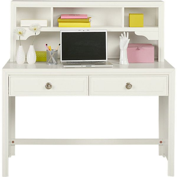 Belcourt Jr. White Desk Hutch ($400) ❤ liked on Polyvore featuring ...