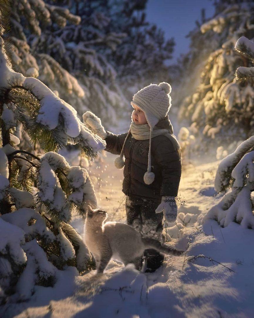Olgа🌾🌺 on | Зимний ребенок, Картинки снега и Зима