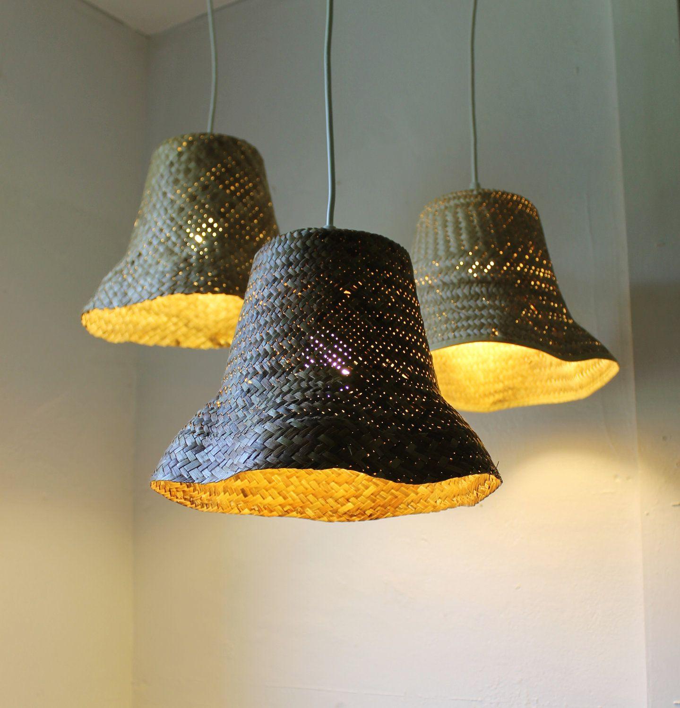 basket case upcycled wicker basket hanging pendant. Black Bedroom Furniture Sets. Home Design Ideas
