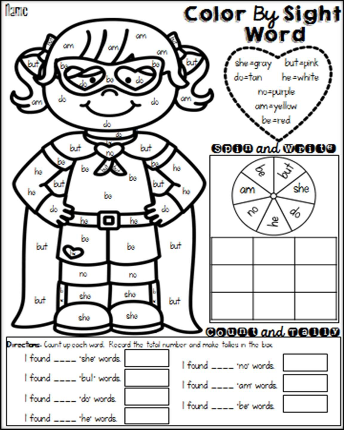 These Interactive No Prep Color By Sight Word Sheets Are For More Than Just Coloring There Are