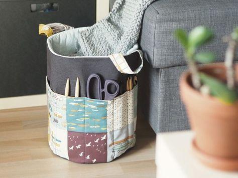 diy anleitung strick utensilo mit au entasche n hen via n hideen pinterest. Black Bedroom Furniture Sets. Home Design Ideas