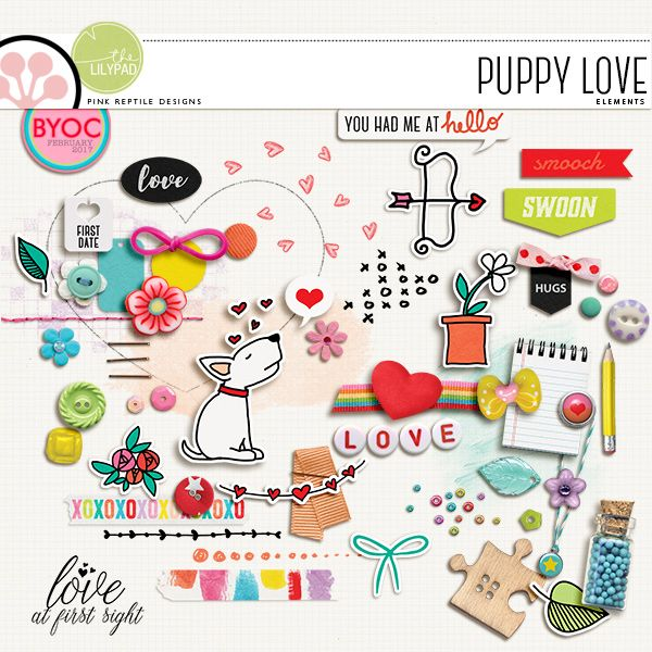 Puppy Love elements by Pink Reptile Designs