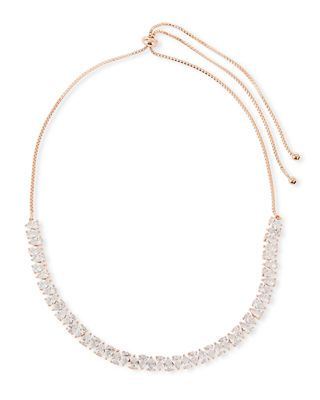 Fallon Monarch Jagged Edge Crystal Necklace 00zFMHM3y