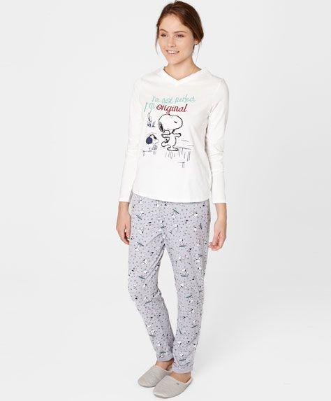 nuovi stili eb8b4 2caea Camiseta bordado Snoopy - OYSHO | Pajamas | Pajamas ...