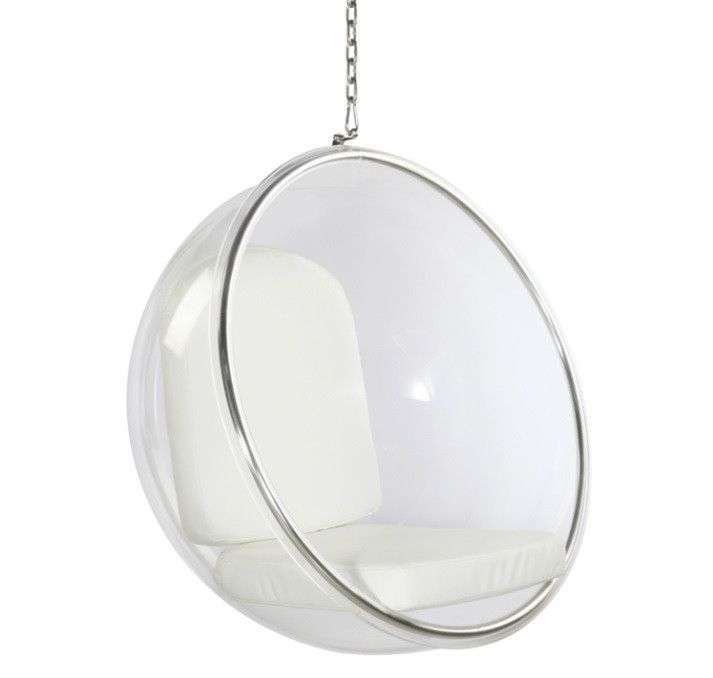 Superieur Fine Mod Imports Bubble Hanging Chair FMI1122 White