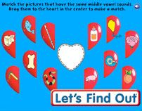 Heart Halves: A Vowel Sound Game From Let's Find Out Magazine
