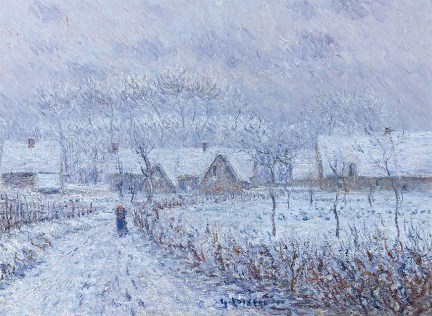 """After the Snow on the Field"" by Gustave Loiseau, 1899"