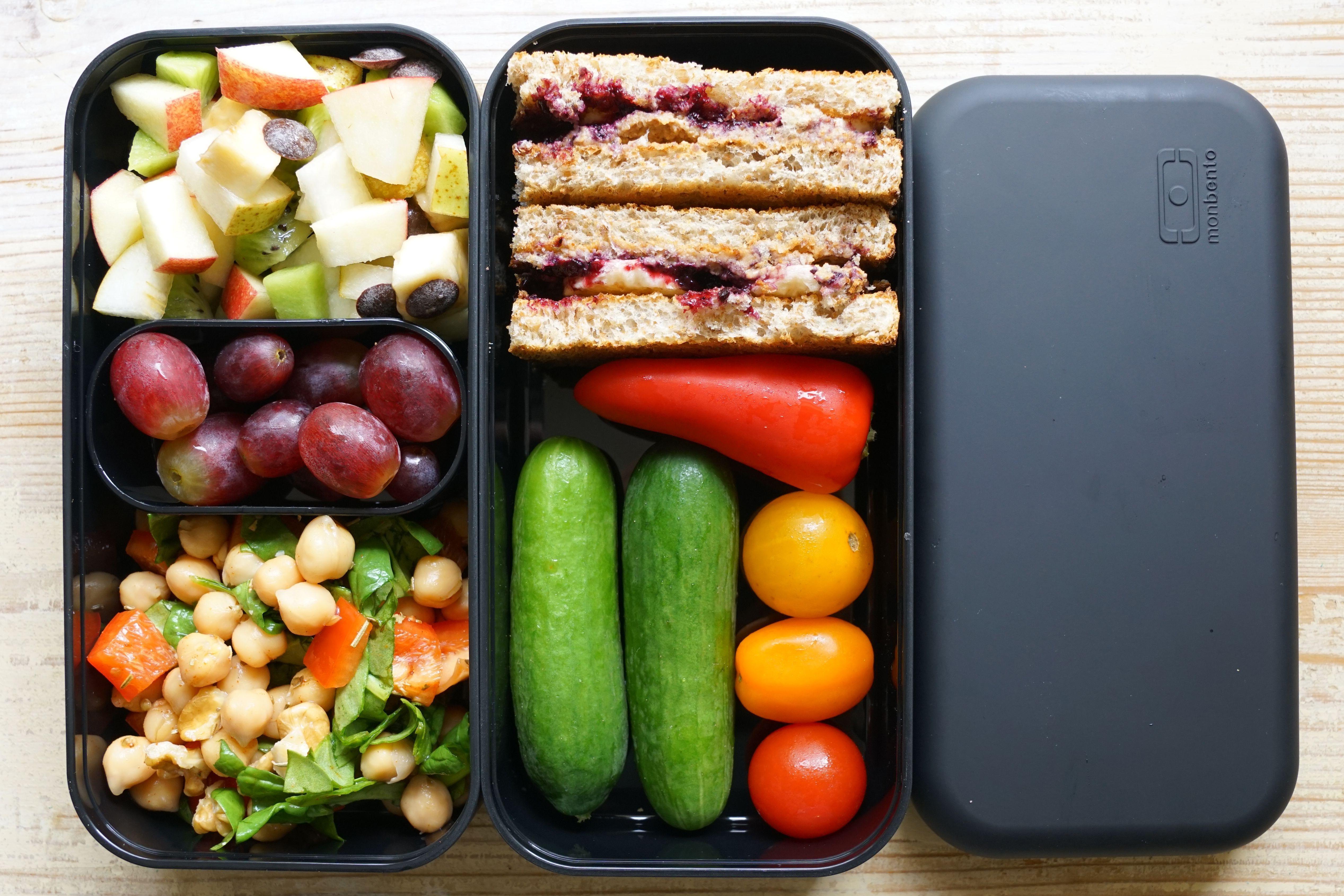 Bento Box - Lunch Box - Mittagessen zum Mitnehmen - gesundes Pausenbrot #bentobo...,  #Bento ... #bentoboxlunch