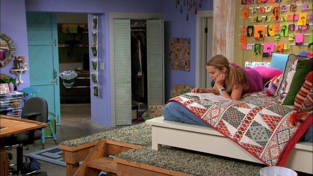 Teddy's room on Good Luck Charlie. I want to have my room just like this!