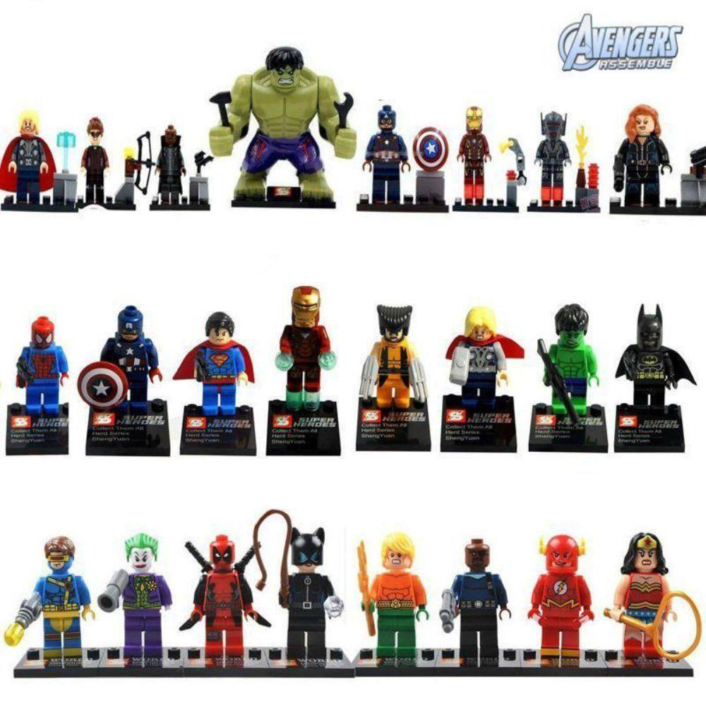 Amazon.com: 24pcs/Lot MiniFigures Toy Super Heroes Series Wolverine Superman Hulk Batman: Toys & Games
