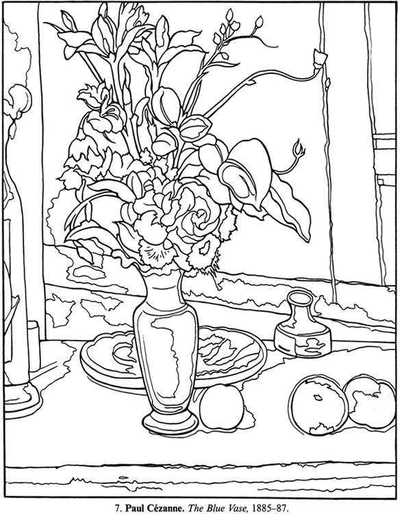 art masterpieces to color 60 great paintings from botticelli to picasso welcome to dover publications - Famous Art Coloring Pages Picasso