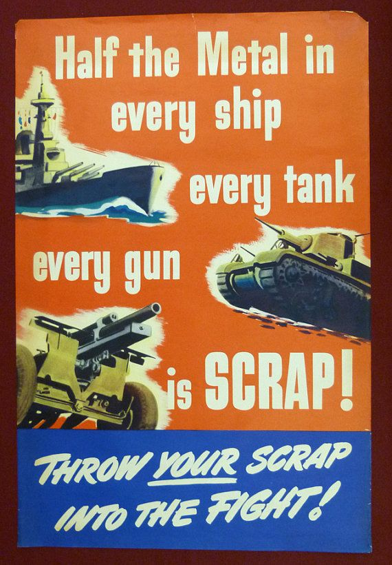 Us Propaganda Wwii Recycle Scrap Poster Half The By Velaincident Wwii Posters American Propaganda Propaganda