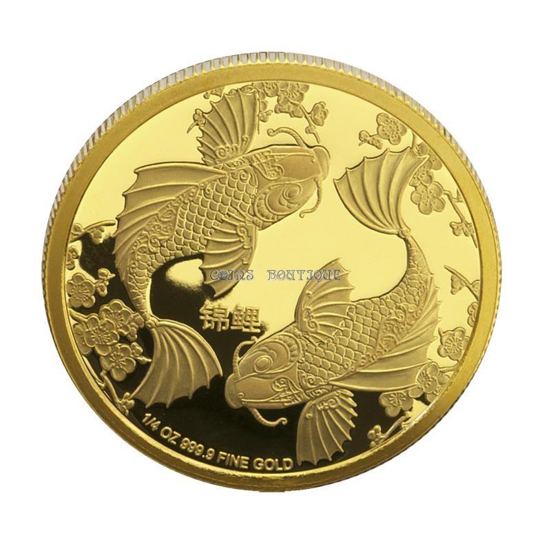 Gold Coins Feng Shui Koi Fish 1 4 Oz Gold Coin 2014 Niue Coinsboutique Gold Coins Gold And Silver Coins Coins