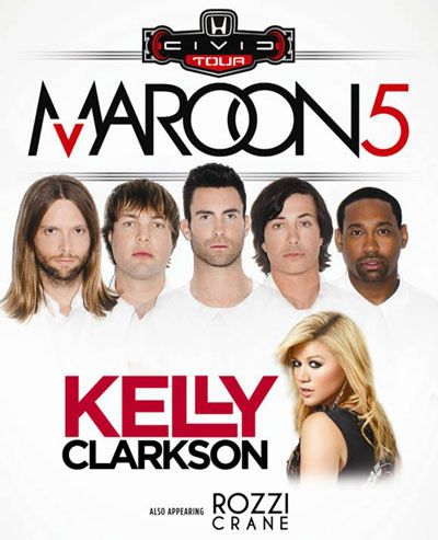 Maroon 5 with Kelly Clarkson – August 1st at Verizon Wireless Amphitheater