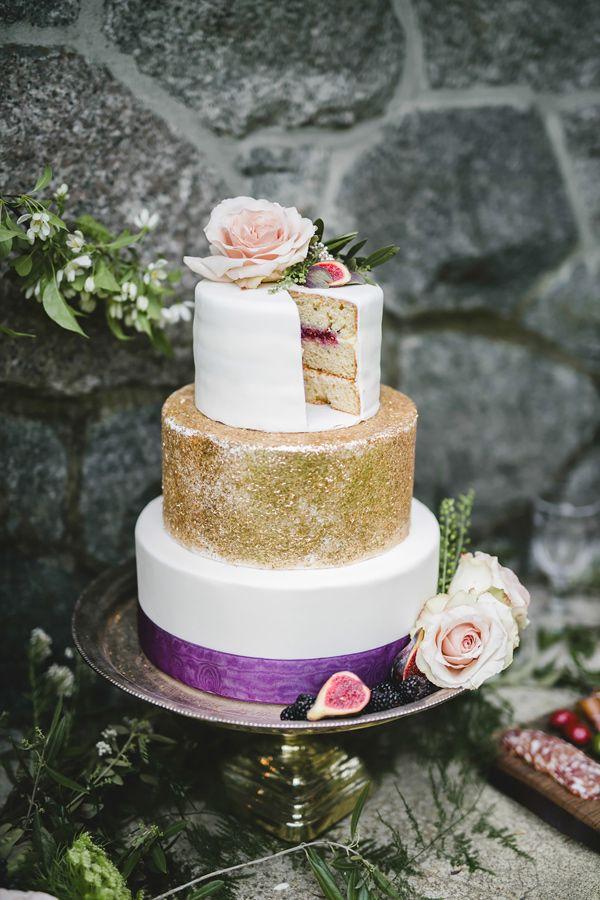 Golden Plum Garden Wedding | Wedding cake photos, Cake photos and ...