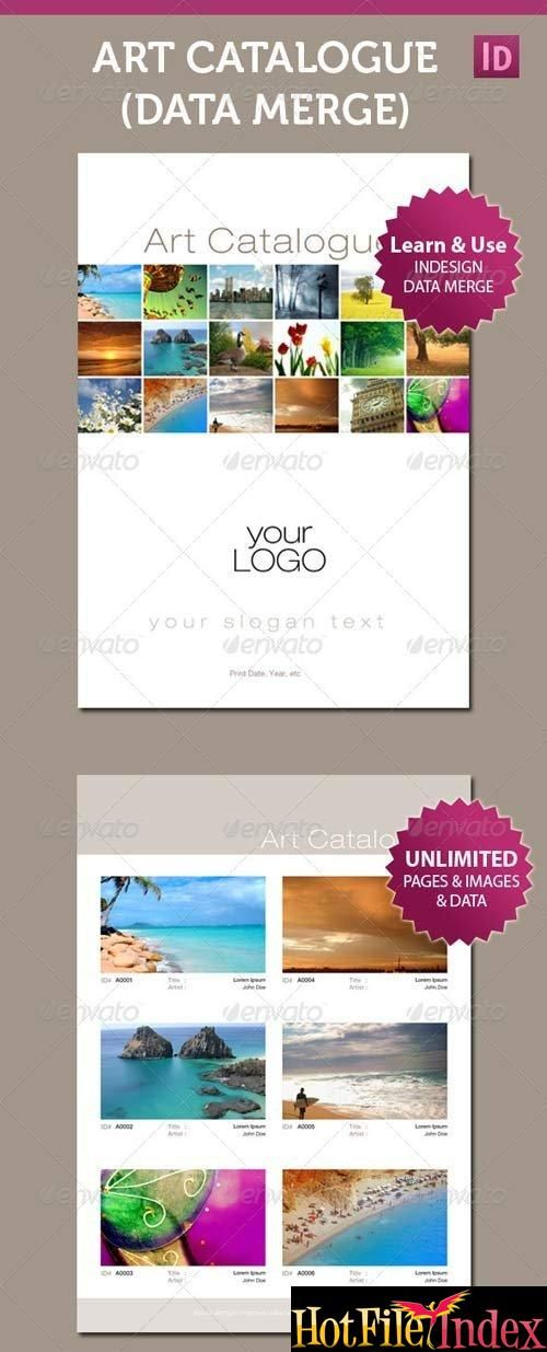 Art Catalogue Template For InDesign Data Merge Template From ...