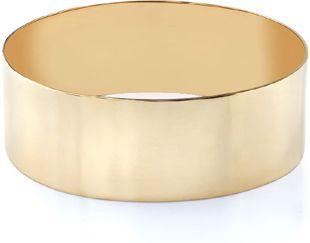 "14K Gold Flat Bangle Bracelet, 25mm (1"")"