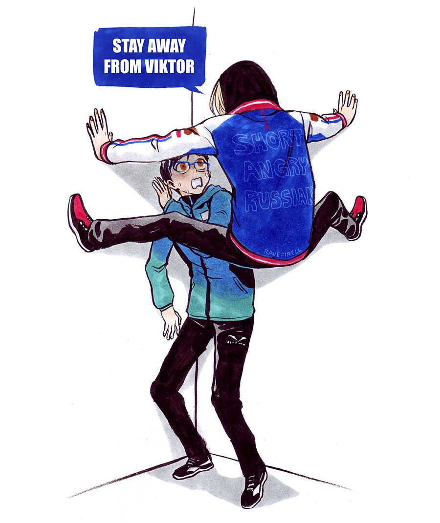 """ravefirell: """"  Inktober Day 8: This is how I think Yuri on Ice episode 2 is gonna go """""""