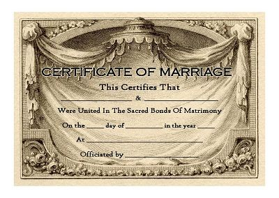 Unique keepsake marriage certificate with vintage french business unique keepsake marriage certificate with vintage french business card motif reheart Gallery