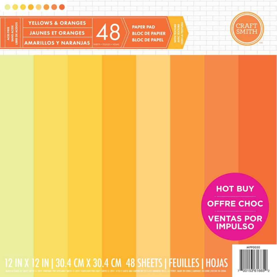 New from Craft Smith - Cardstock Paper Pad in shades of