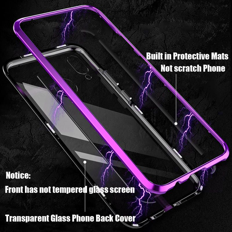 2c5dc7f614 Bakeey 360° Magnetic Adsorption Upgraded Version Tempered Glass & Metal  Flip Protective Case for Huawei Nova 3 #Banggood #Bakeey #360 #Magnetic # Adsorption ...