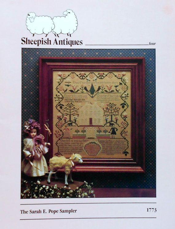 Rare Sheepish Designs Antiques Four SARAH E POPE SAMPLER Dawn