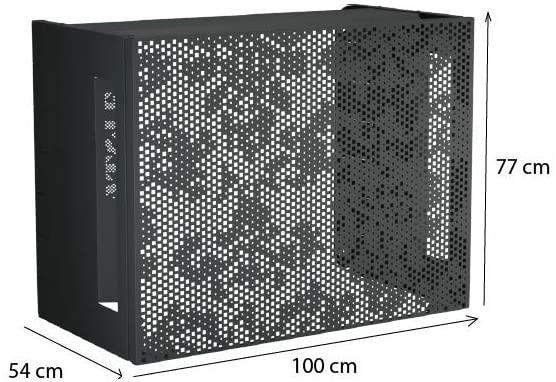 Cubierta de aire acondicionado de aluminio, compatible con