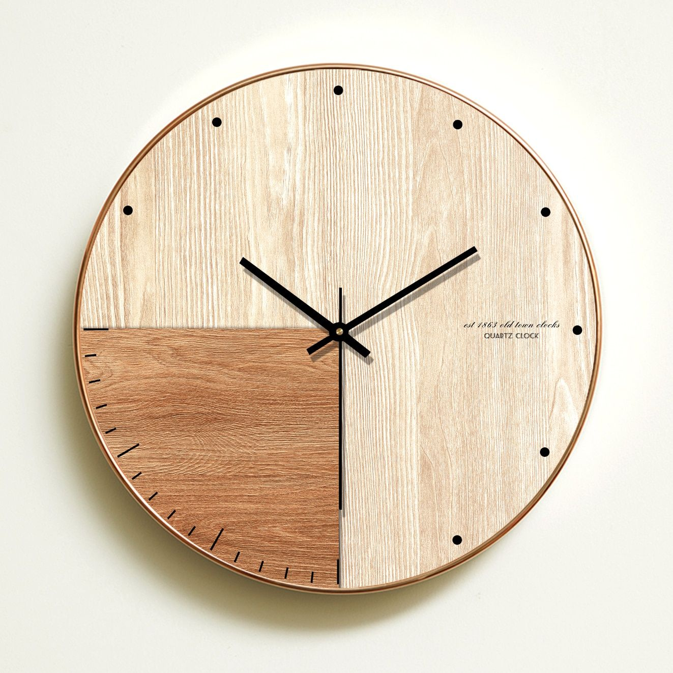 Wall Clock Simple Modern Design Wooden Clocks For Bedroom Wood Wall Watch Home Decor Silent En 2020 Horloge Murale Horloge Murale Design Grandes Horloges Murales