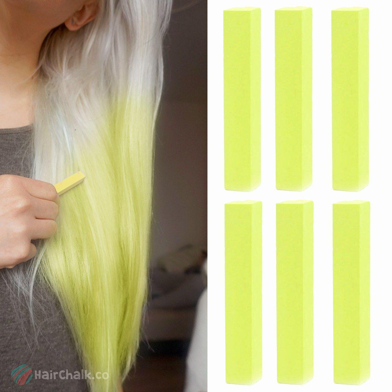 Pastel Yellow Hair Chalk Yellow Hair Dye Hair Chalk Silver