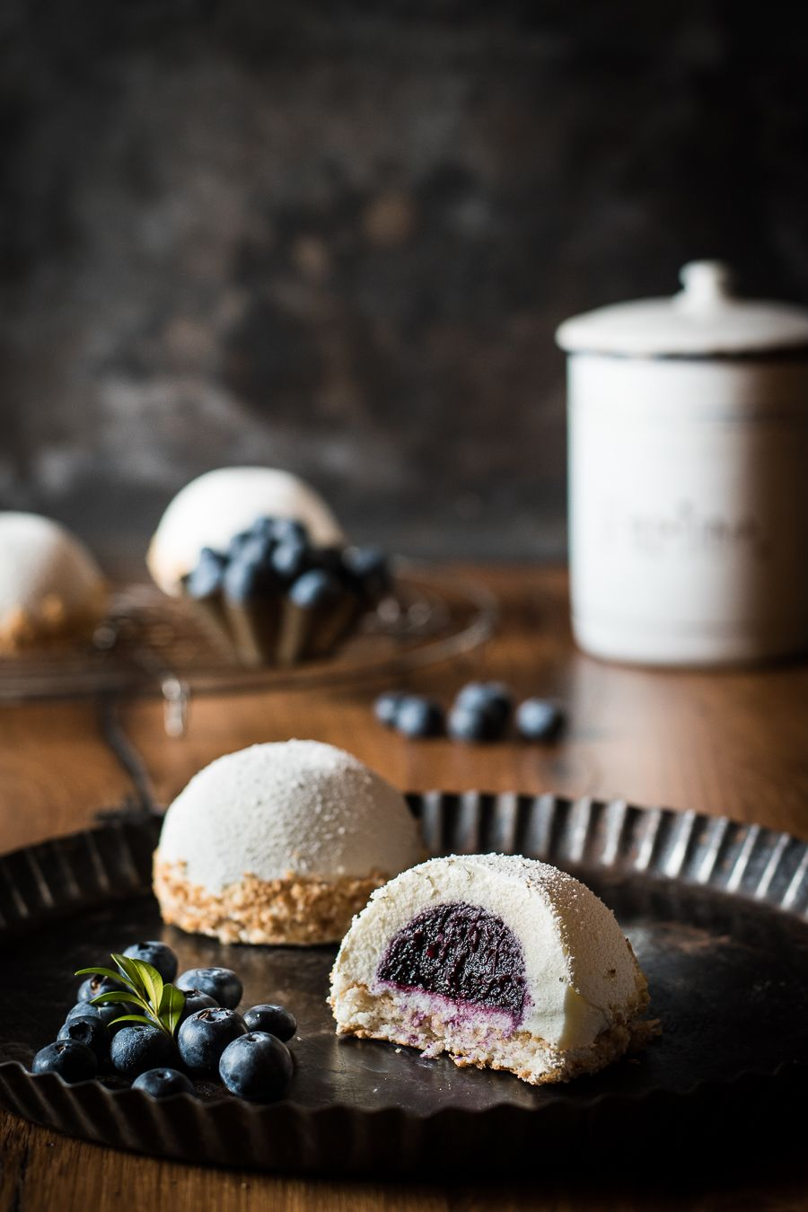 Photo of Coconut tarts with blueberry seeds – Small culinary