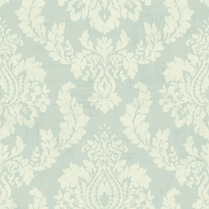 "Springtime Cottage Ombre String 33' x 20.5"" Damask 3D Embossed Wallpaper"